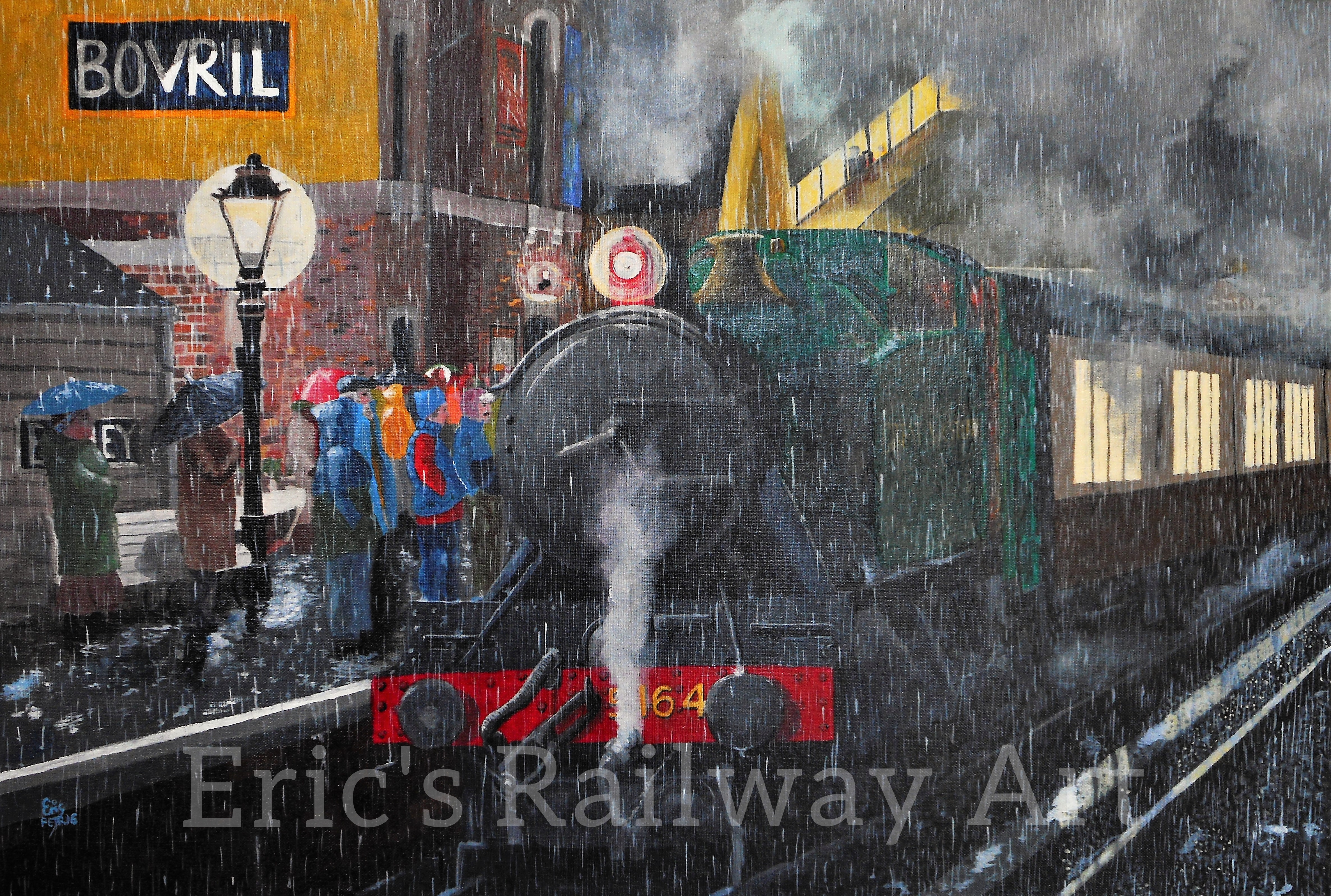 Eric's Railway Art - Bewdley in the Rain