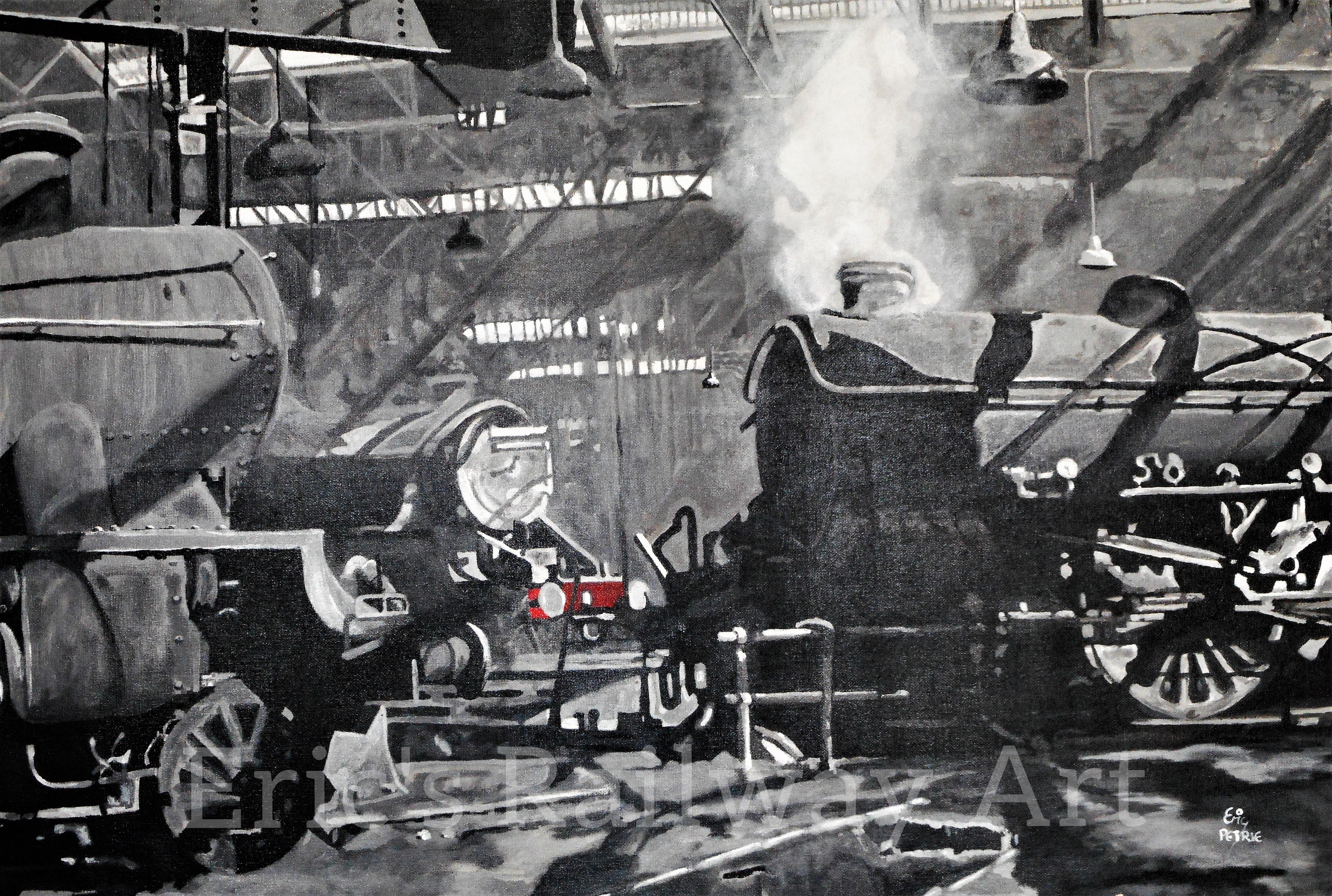 Eric's Railway Art - In the Shadows